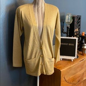 Outlander studio by Leslie Fay gold cardigan